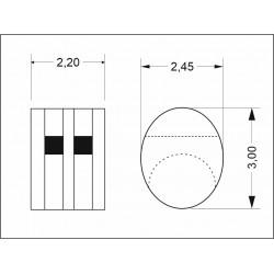 Double blocks 3 mm (20 pcs)