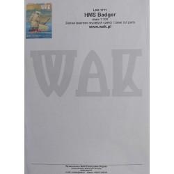 "HMS ""Badger"" - laser cut parts"